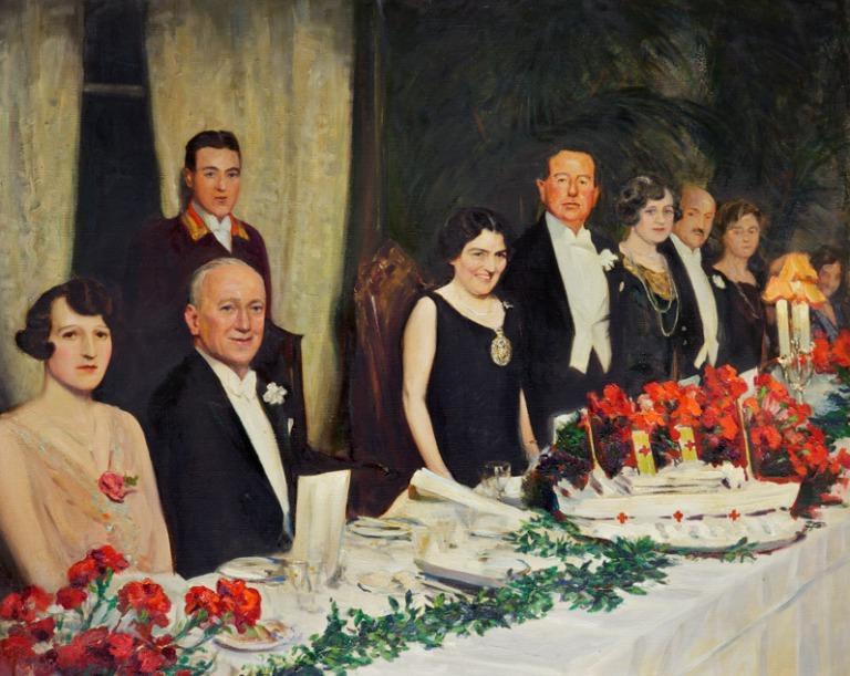 Oil painting of Margaret Beavan card