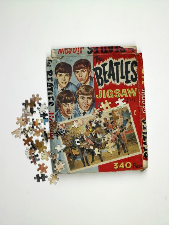 The Beatles jigsaw card