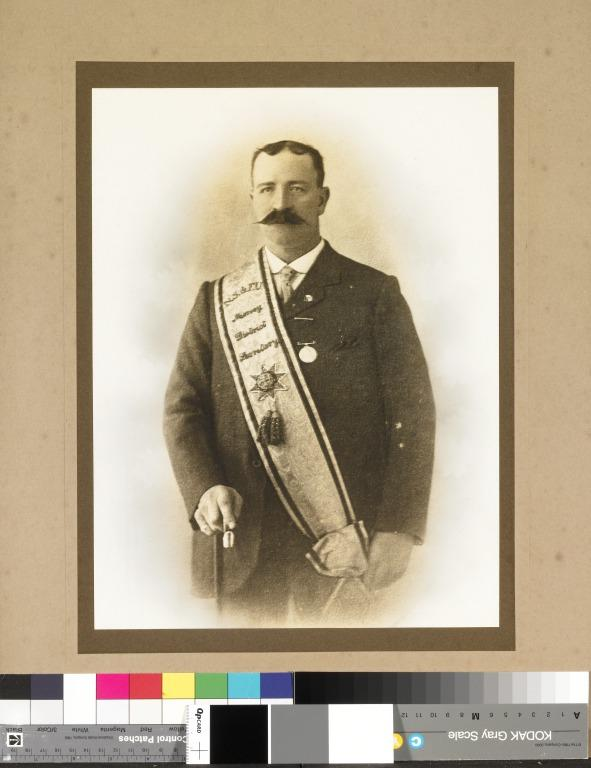 Portrait of Richard Chidlow as Secretary of the National Sailor's and Fireman's Union, Mersey Branch, 1908-1915 card