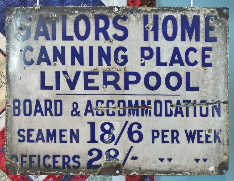 Sailors' Home sign, Canning Place, Liverpool card