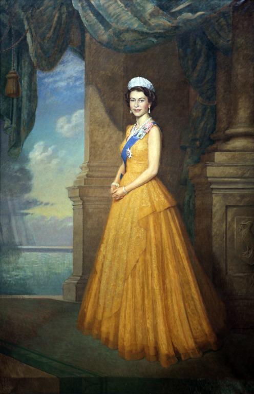 Queen Elizabeth II card
