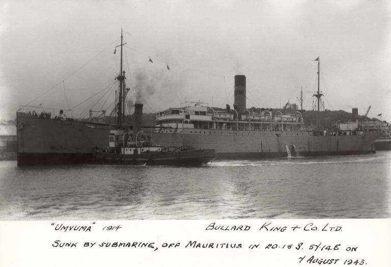 Photograph of Umvuma, Bullard King and Company card