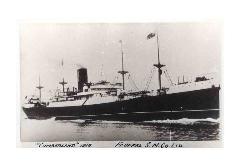 Photograph of Cumberland, Federal Steam Navigation Company card