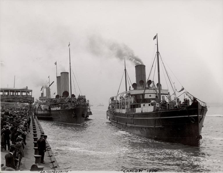 Photograph of La Marguerite and Carlow, City of Dublin Steam Packet Company card