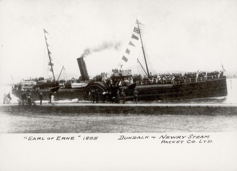 Photograph of Earl of Erne, Dundalk and Newry Steam Packet Co Ltd card