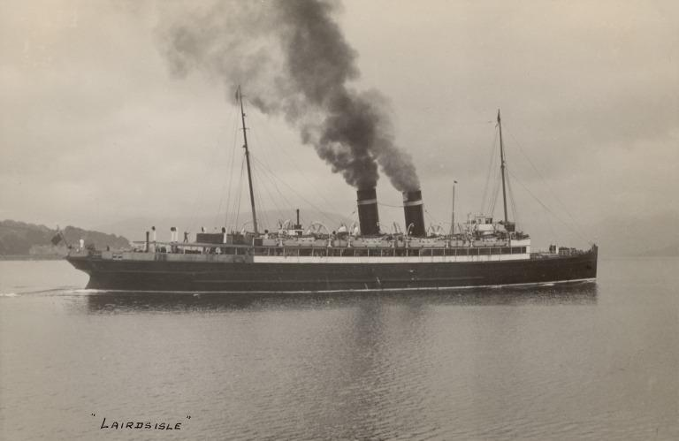 Photograph of Lairds Isle (ex Riviera), Burns and Laird Lines card