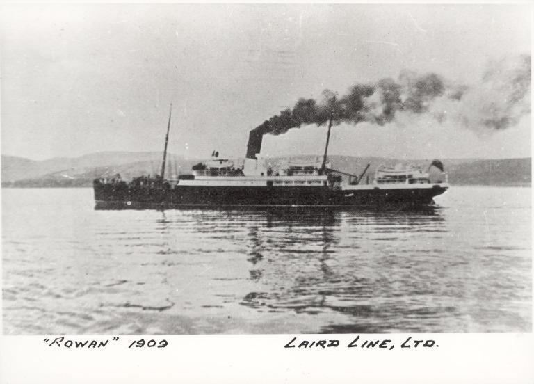 Photograph of Rowan, Laird Line Ltd card