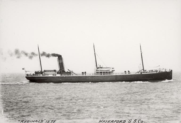 Photograph of Reginald, Waterford Steamship Company card