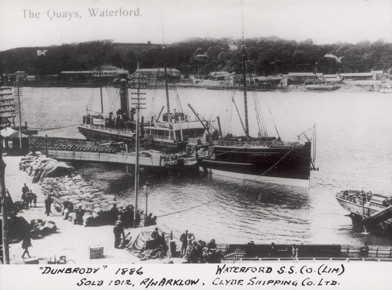Photograph of Dunbrody (r/n Arklow), Waterford Steamship Company card