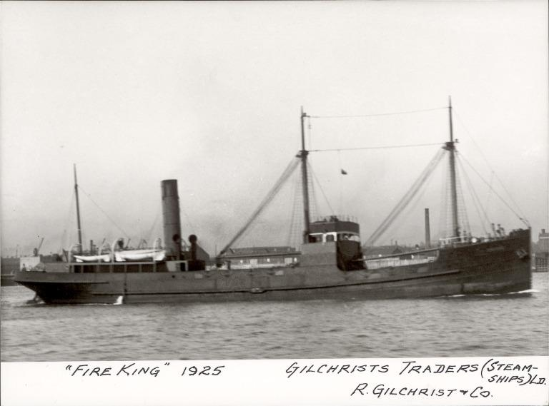 Photograph of Fire King, R Gilchrist and Co card