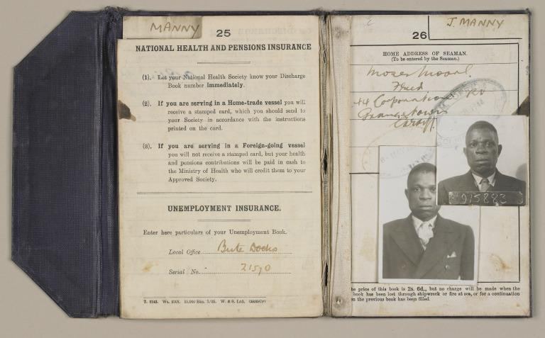 Discharge certificates of James Manny. card