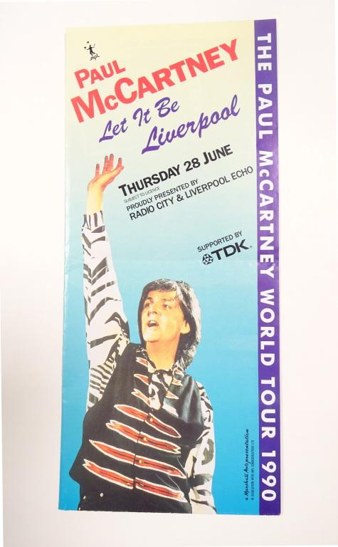'Let It Be Liverpool' charity concert brochure card