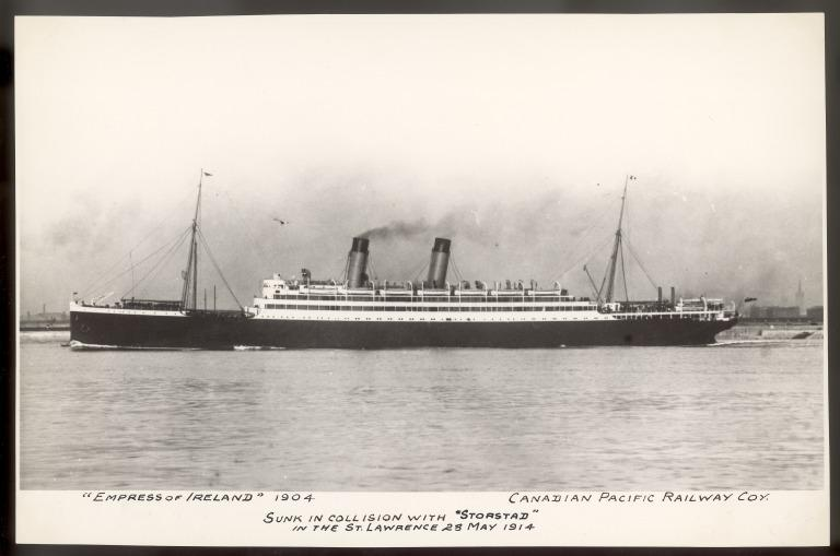 Photograph of Empress of Ireland, Canadian Pacific card
