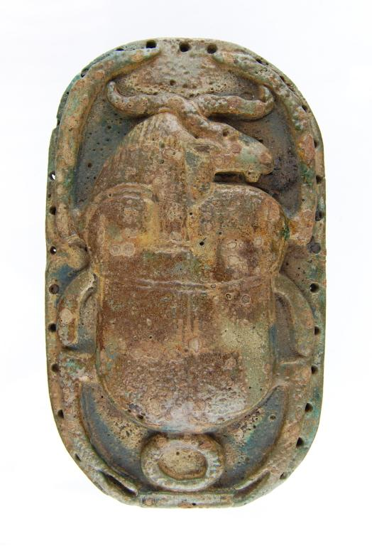 Ram-headed Funerary Scarab card