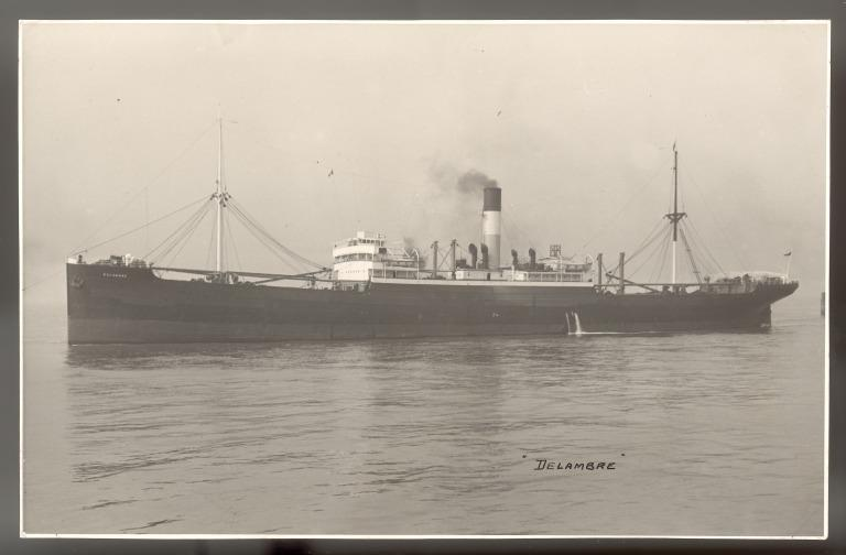 Photograph of Delambre, Lamport and Holt card
