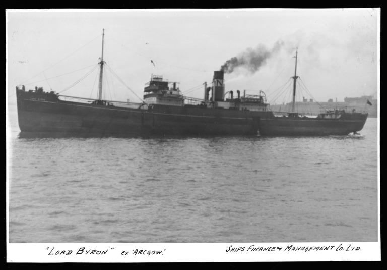 Photograph of Lord Byron (ex Arcgow), Ships Finance and Management Co card