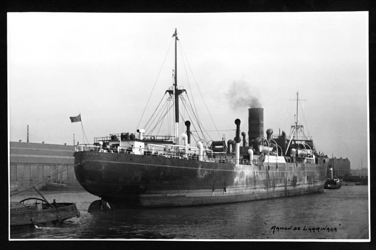 Photograph of Ramon De Larrinaga, Larrinaga Steamship Company card