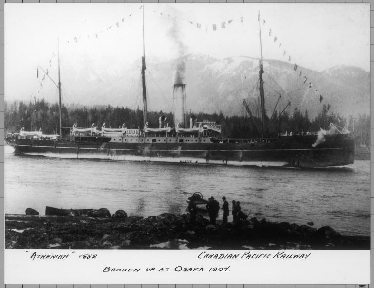 Photograph of Athenian, Canadian Pacific card
