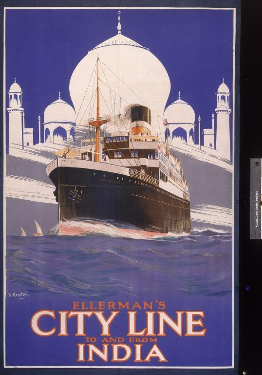 Ellerman's City Line 'To and from India' card
