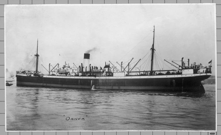 Photograph of Oanfa, Alfred Holt card