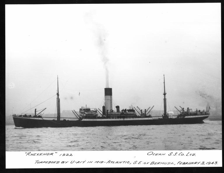 Photograph of Rhexenor, Alfred Holt card