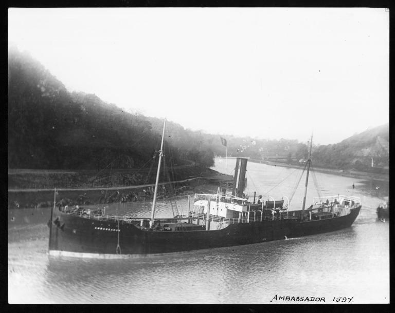 Photograph of Ambassador, Hall Brothers Steamship Company card