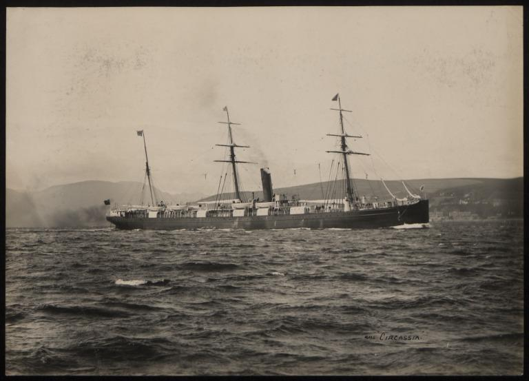 Photograph of Circassia, Anchor Line card