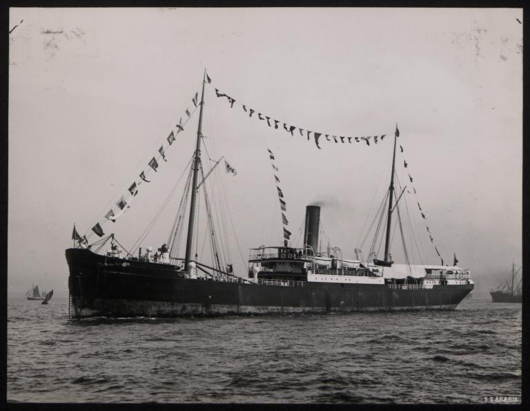 Photograph of Arabia, Anchor Line card