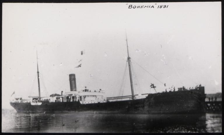 Photograph of Bohemia, Anchor Line card