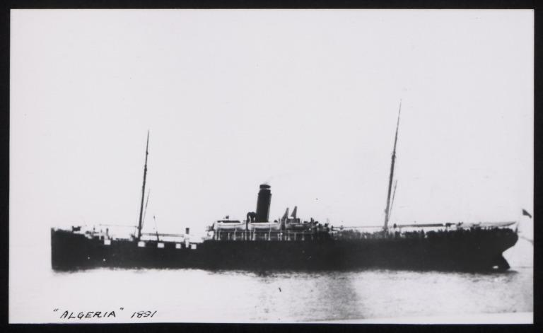 Photograph of Algeria, Anchor Line card