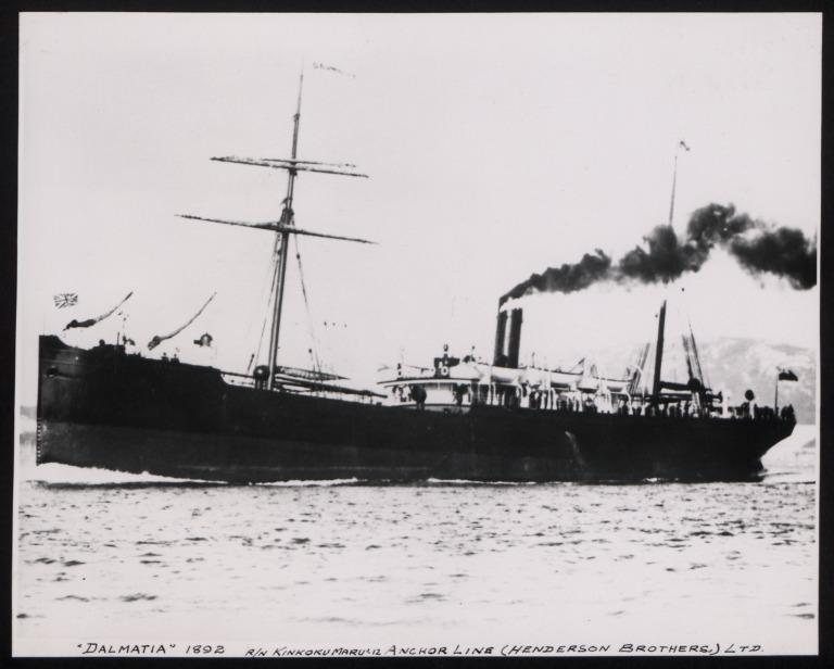 Photograph of Dalmatia, Anchor Line card