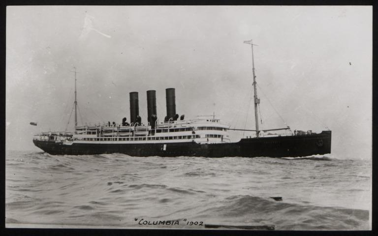 Photograph of Columbia, Anchor Line card