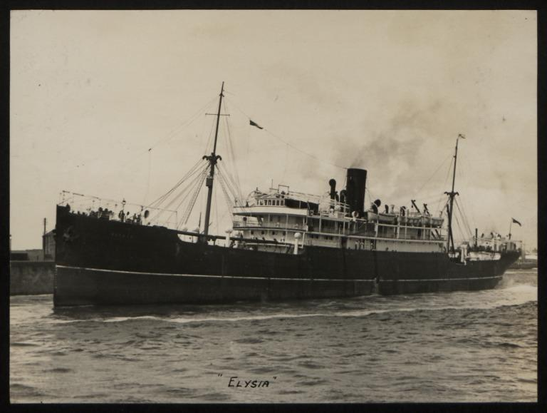 Photograph of Elysia, Anchor Line card