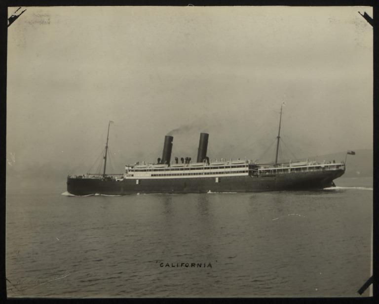 Photograph of California, Anchor Line card
