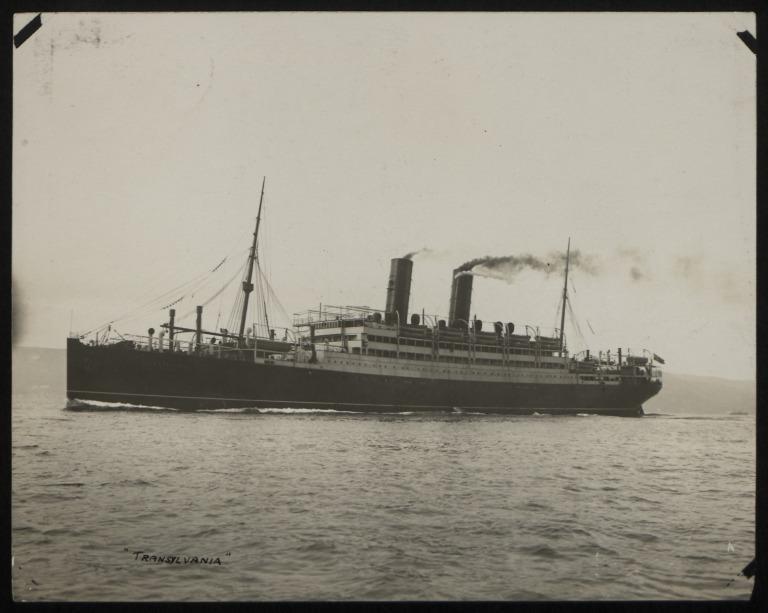 Photograph of Transylvania, Anchor Line card