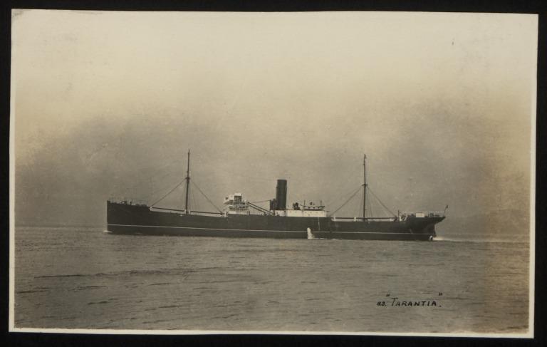 Photograph of Tarantia, Anchor Line card