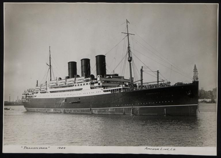 Photograph of Transylvania, Anchor Line card