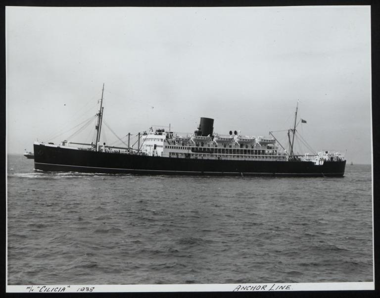 Photograph of Cicilia, Anchor Line card