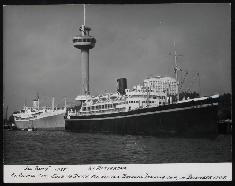 Photograph of Jan Backx (ex Cicilia), Anchor Line card