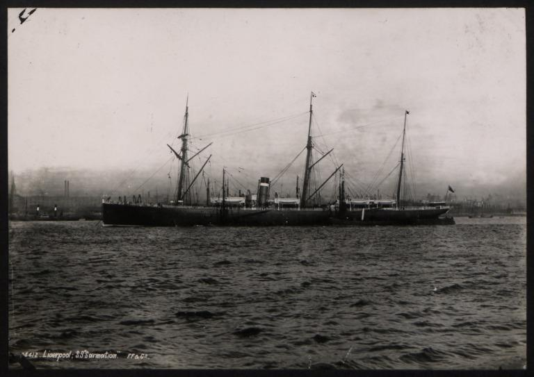 Photograph of Sarmatian, Allan Line card