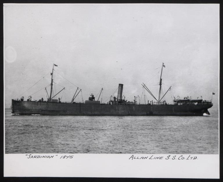 Photograph of Sardinian, Allan Line card