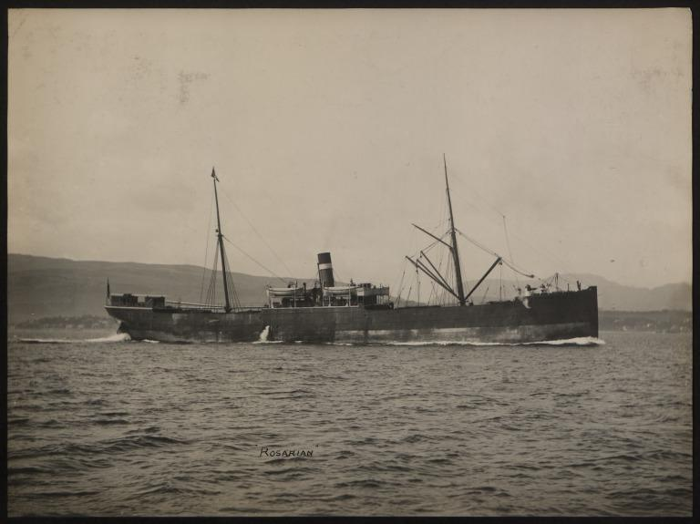 Photograph of Rosarian, Allan Line card
