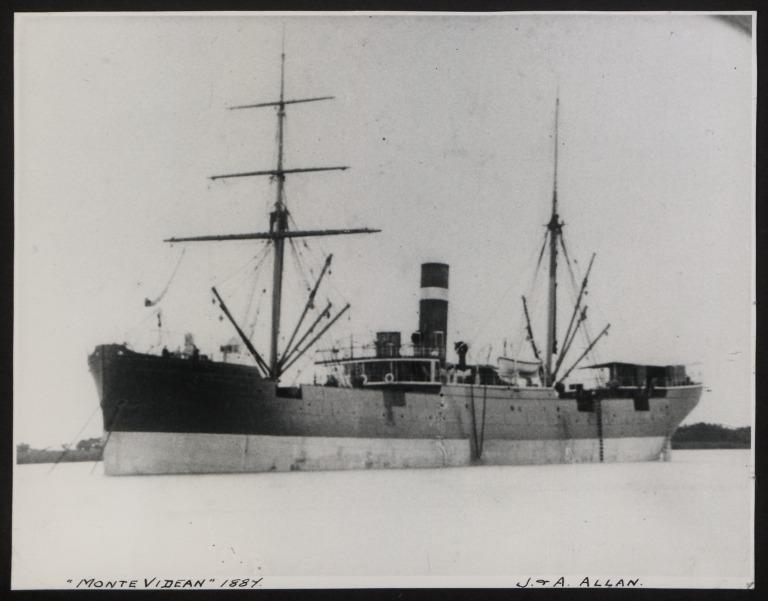 Photograph of Monte Videan, Allan Line card