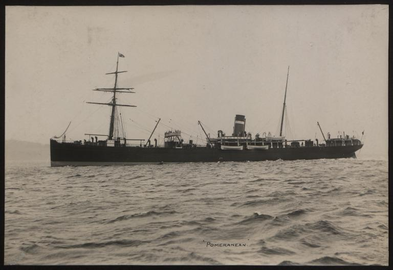 Photograph of Pomeranian, Allan Line card