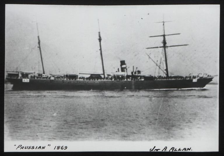 Photograph of Prussian, Allan Line card