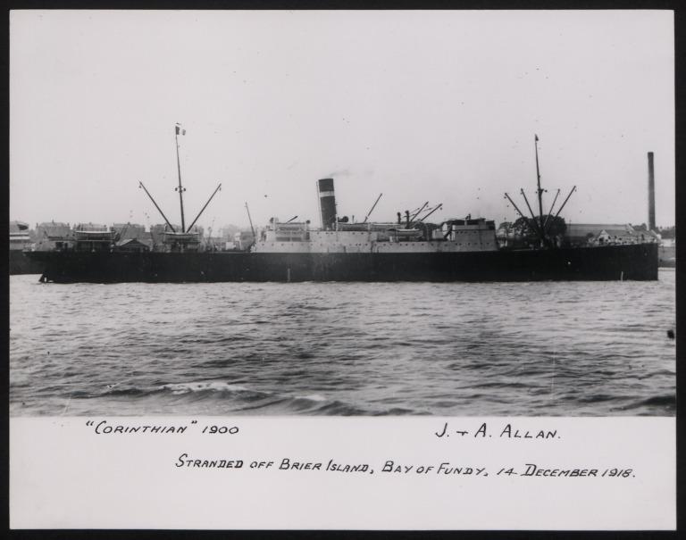 Photograph of Corinthian, Allan Line card