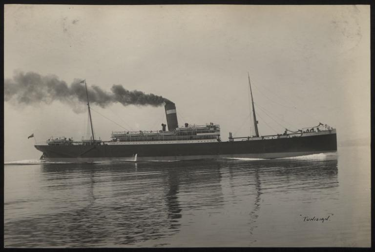 Photograph of Tunisian, Allan Line card