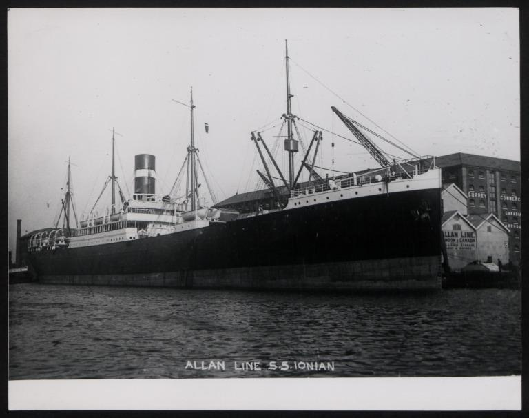 Photograph of Ionian, Allan Line card