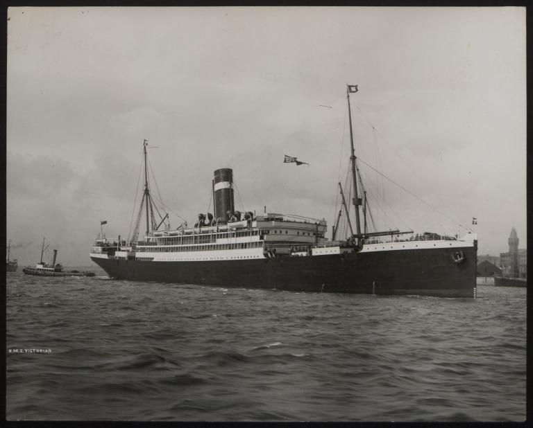Photograph of Victorian, Allan Line card