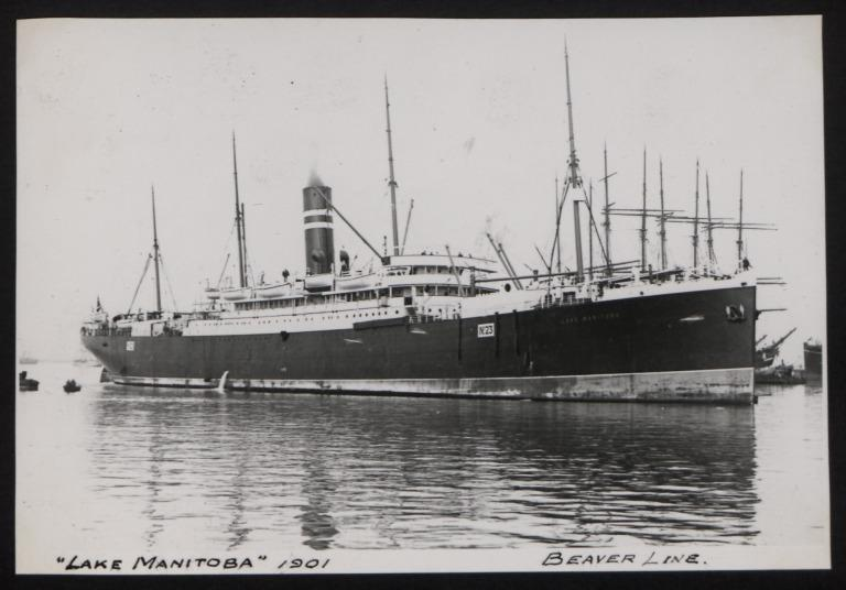 Photograph of Lake Manitoba, Beaver Line card